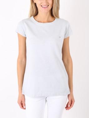 T-shirt grigio chiaro cuore grigio