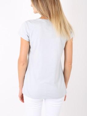 T-shirt grigio chiaro cuore bianco