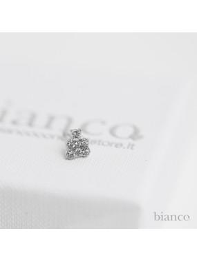 Orecchini Orsetto Mini in Argento 925 e Zirconi